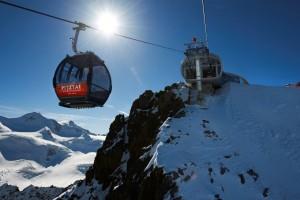 Die Gondel-Bergstation. Foto: Pitztaler Gletscherbahn