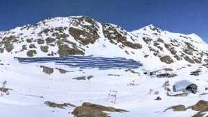 Die Photovoltaik-Anlage. Foto: Pitztaler Gletscherbahn