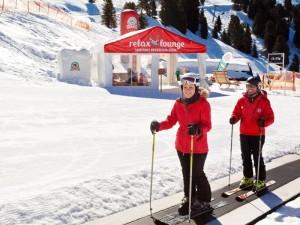 """Alles eine Frage der Haltung: Auf dem Weg zum """"natürlichen Style"""".  Foto: Schneesportschule Hochzeiger-Pitztal"""