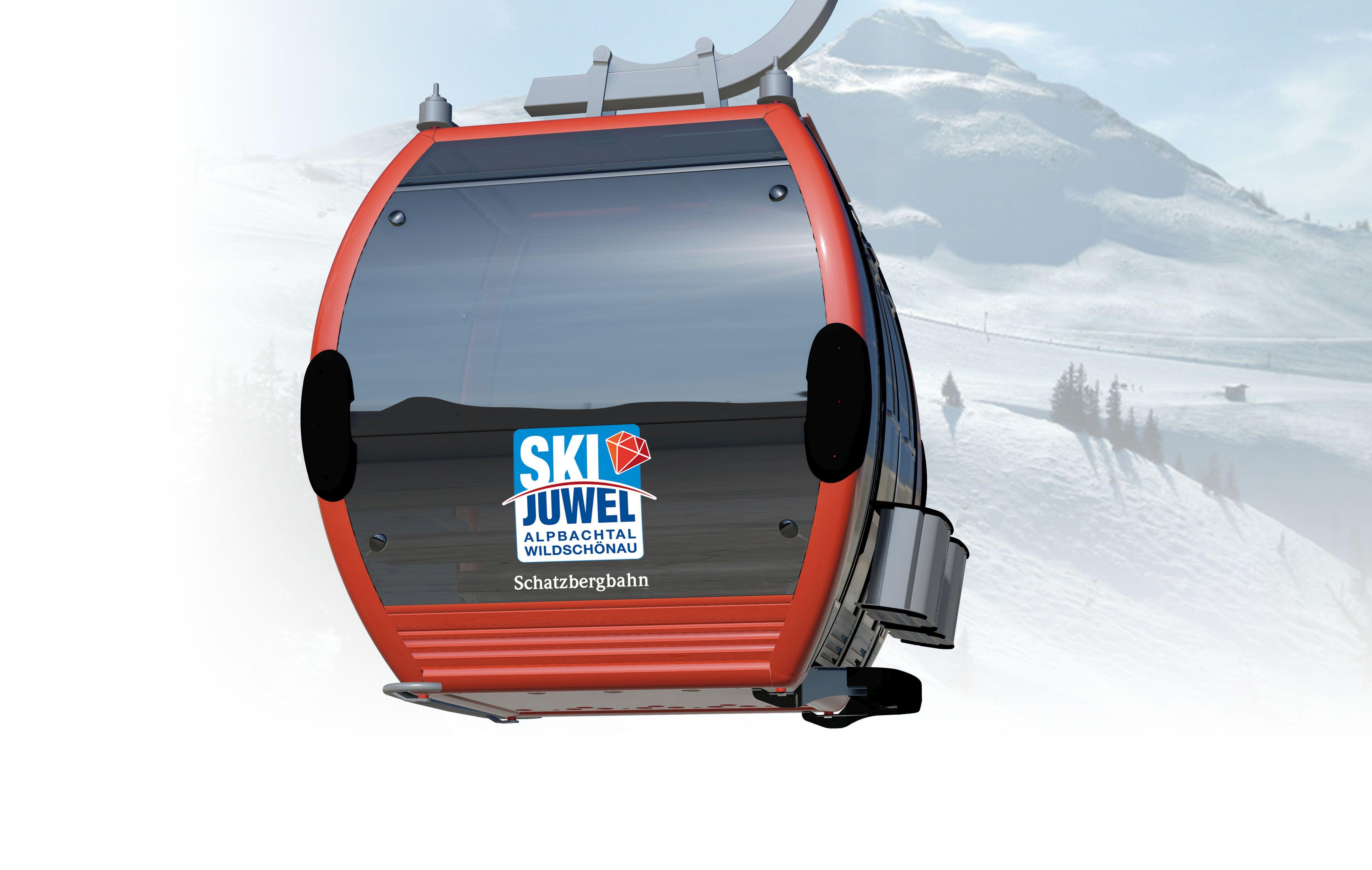 Mit der neuen Schatzbergbahn ins Skiparadies der Wildschönau gondeln. Foto: CWA Constructions SA/Corp